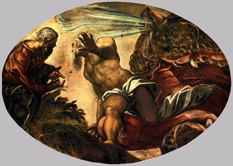 Tintoretto, Jonah leave the whale's belly