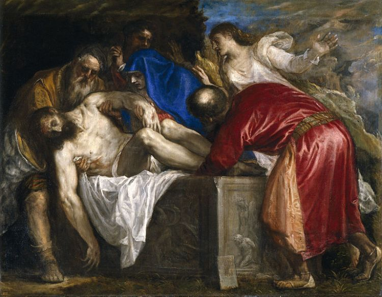 Titian, the burial of Christ