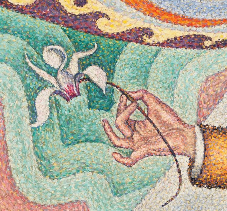 Paul Signac, portrait of Felix Feneon (2)