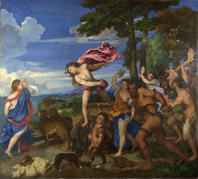 Titian, Bacchus and Ariadne