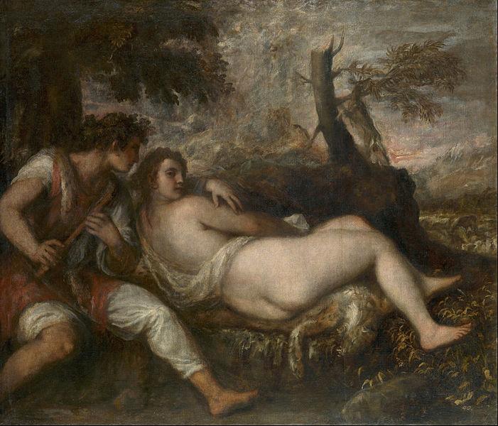 Titian, Nymph and Shepherd