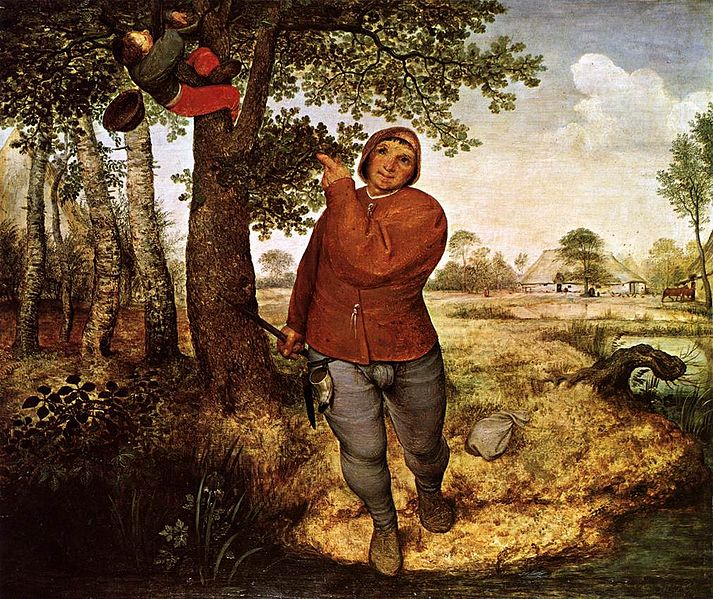 Bruegel, the peasant and the nest robber