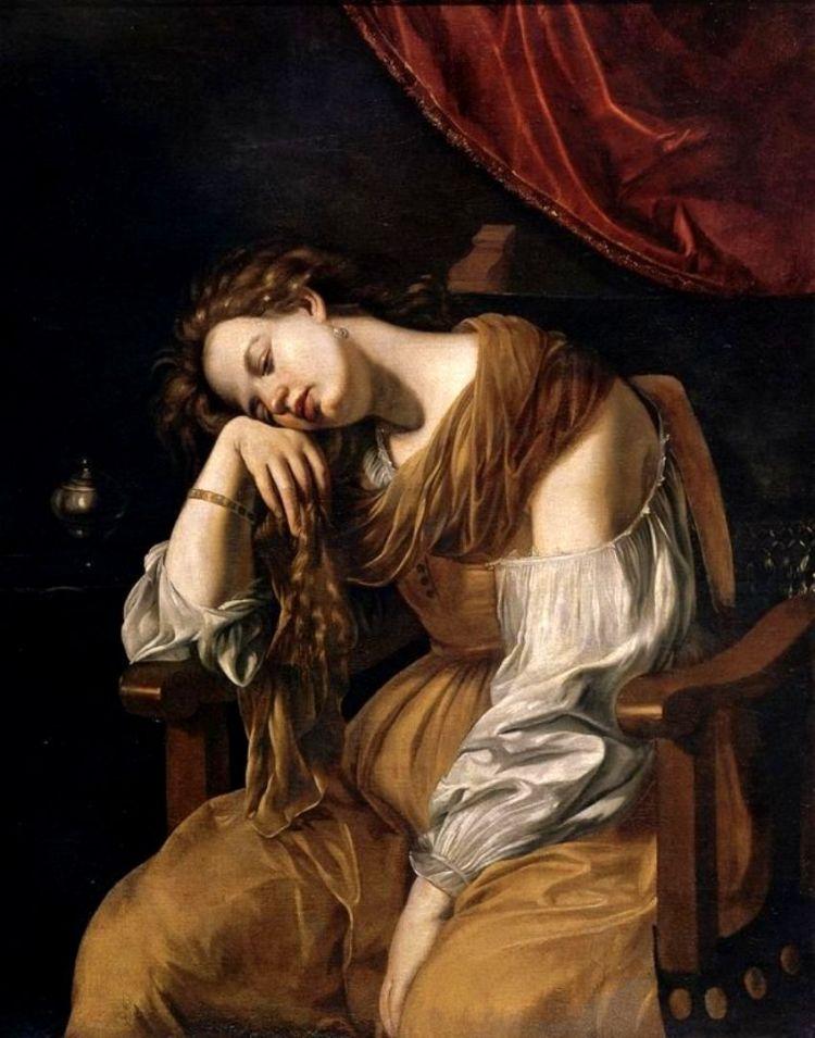 Artemisia Gentileschi / (1593-1653) - Maria Magdalena as Melanconia