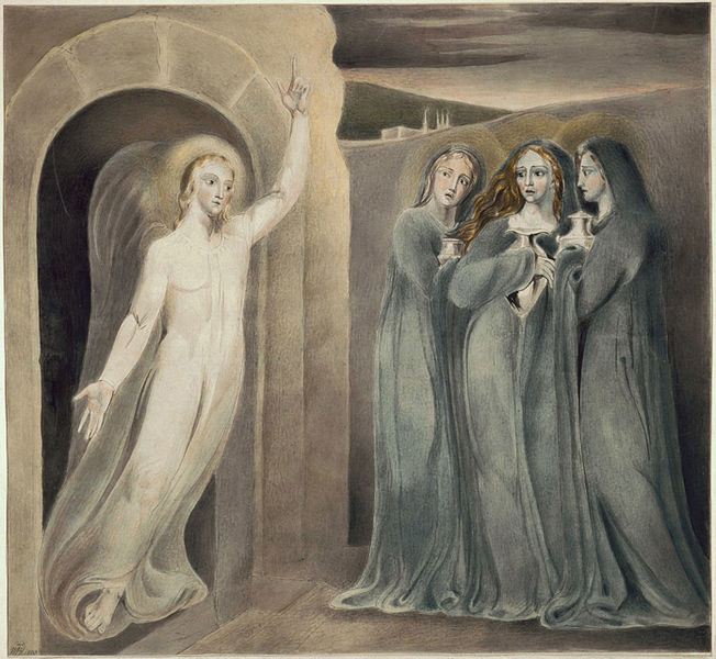 Blake, the three Marys at the Sepulchre