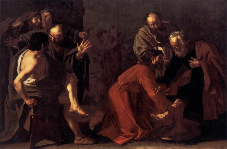 Dirk van Baburen, Christ washing disciples feet