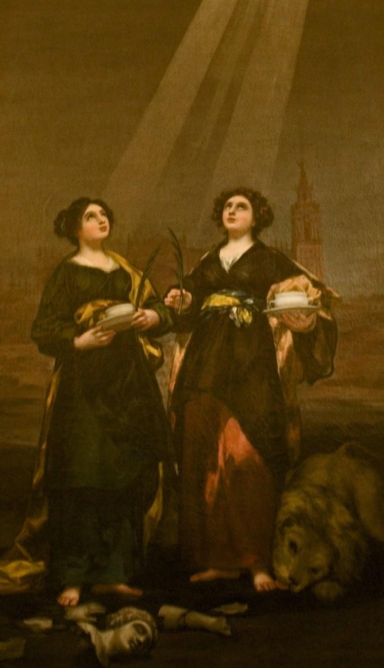 Goya, St Justa and St Rufina