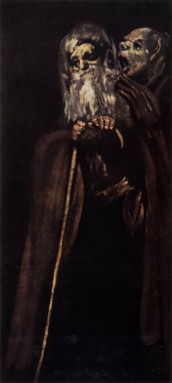 Goya, two monks