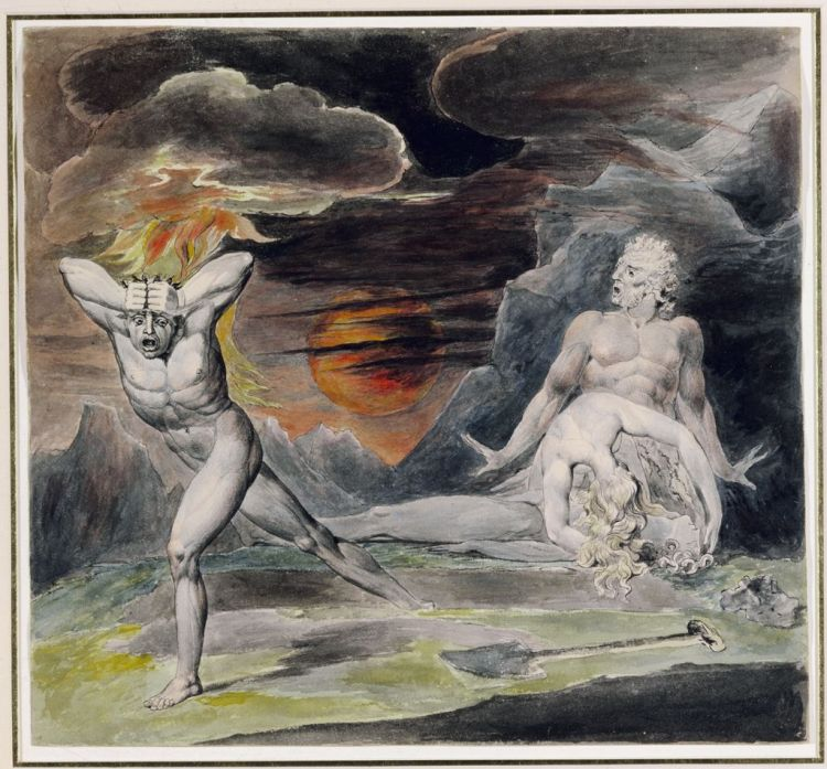 William Blake, Fleeing from the wrath of God