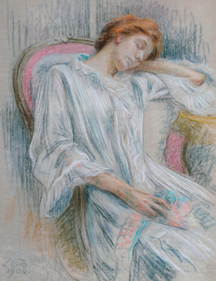 louise-catherine-breslau-a-young-woman-asleep-in-a-chair