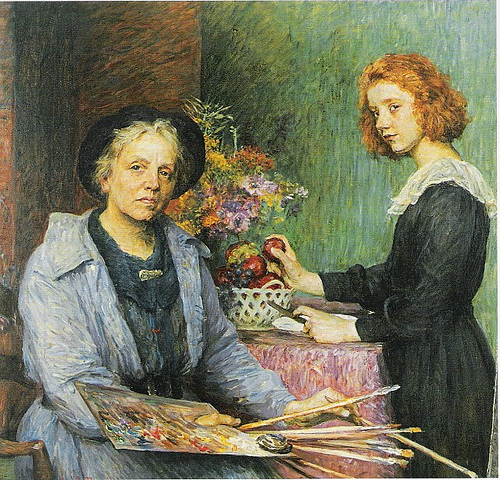 breslau-the-artist-and-her-model