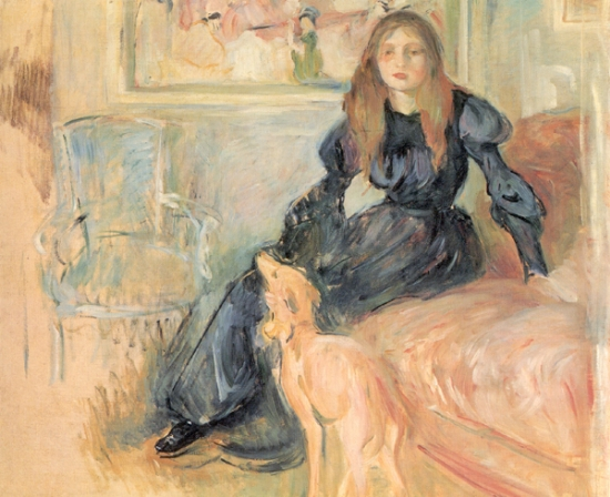berthe-morisot-girl-with-greyhound
