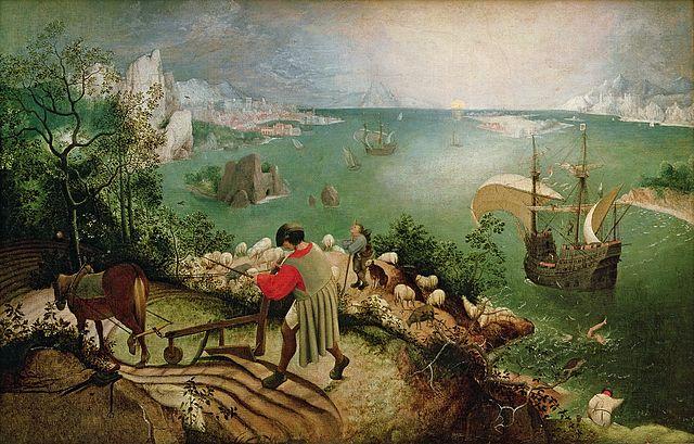 Pieter Bruegel de Oude, De_val van Icarus